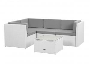 soffa till balkong i vit konstrotting