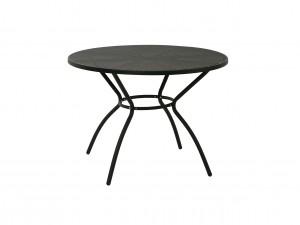 svart cafebord för balkongen i stål