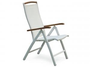 vit positionsstol i teak
