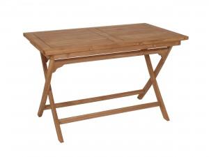 balkongbord för 4 personer i teak fällbart