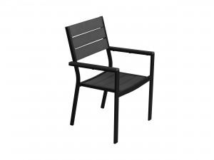 svart balkongstol
